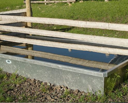 Water trough for cattle and horses